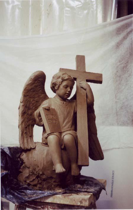 modello in creta angelo madonna della misericordia