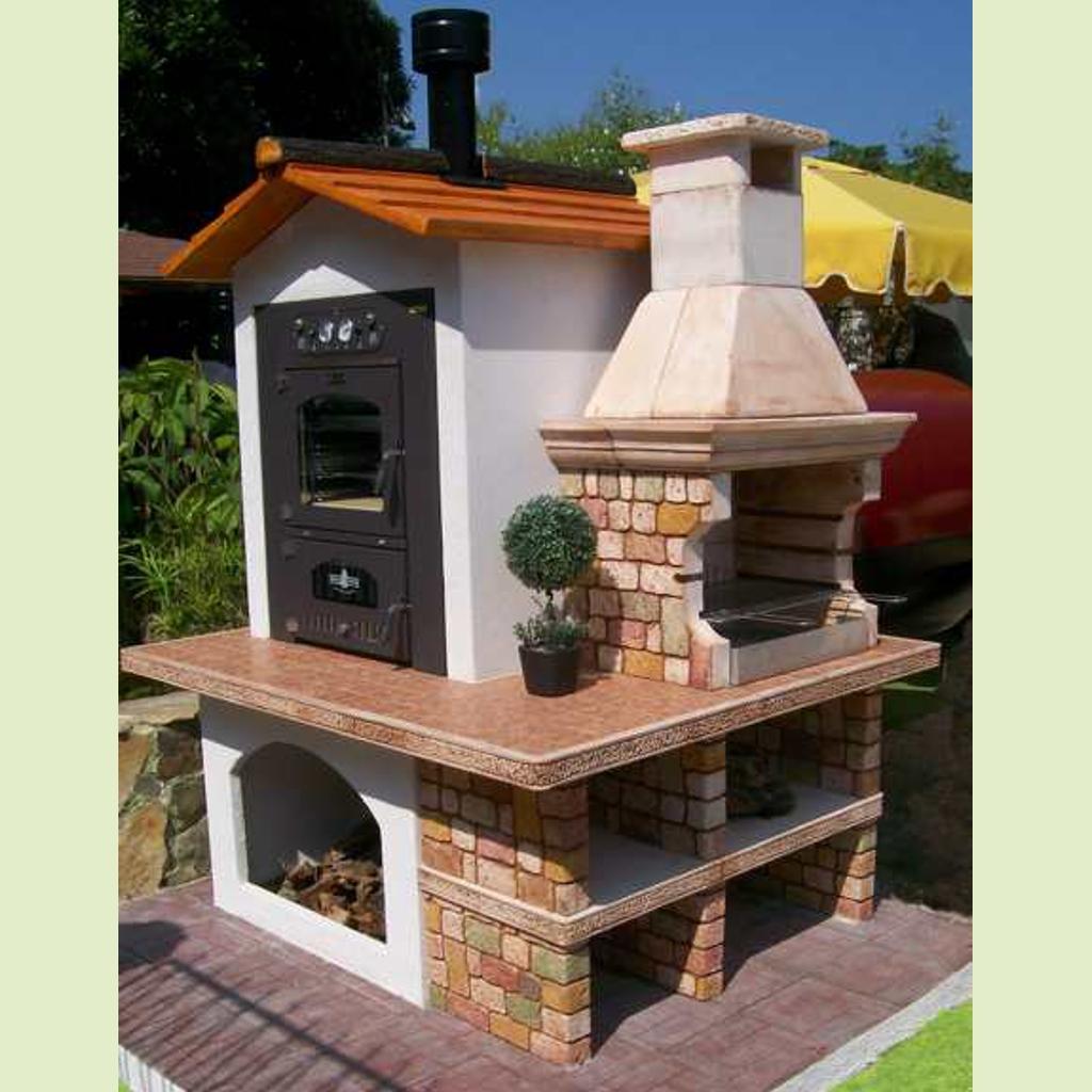Forno barbecue panarea miccich architetture da giardino - Barbecue e forno a legna da giardino ...