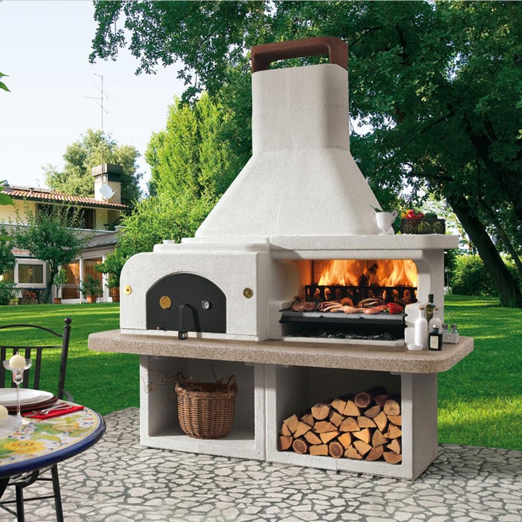 Forno barbecue gargano miccich architetture da giardino - Cucinare con il forno a legna ...