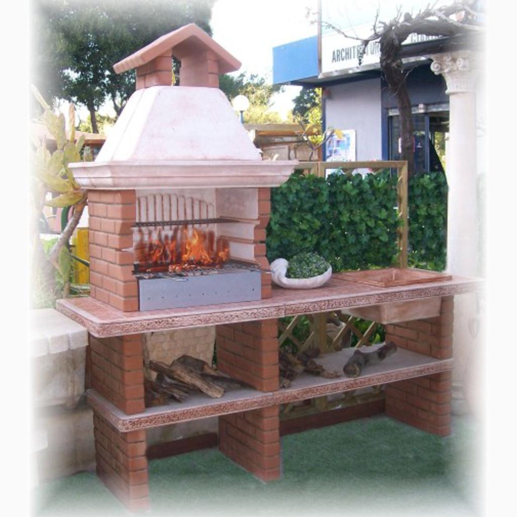 Barbecue alicudi miccich architetture da giardino for Offerte barbecue in muratura