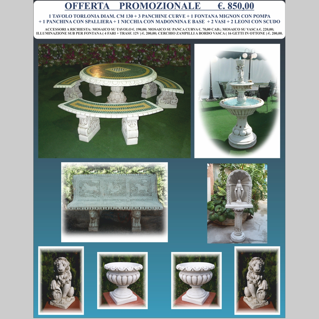OFFERTA SPECIALE ARREDO GIARDINO – Miccichè – Architetture da Giardino