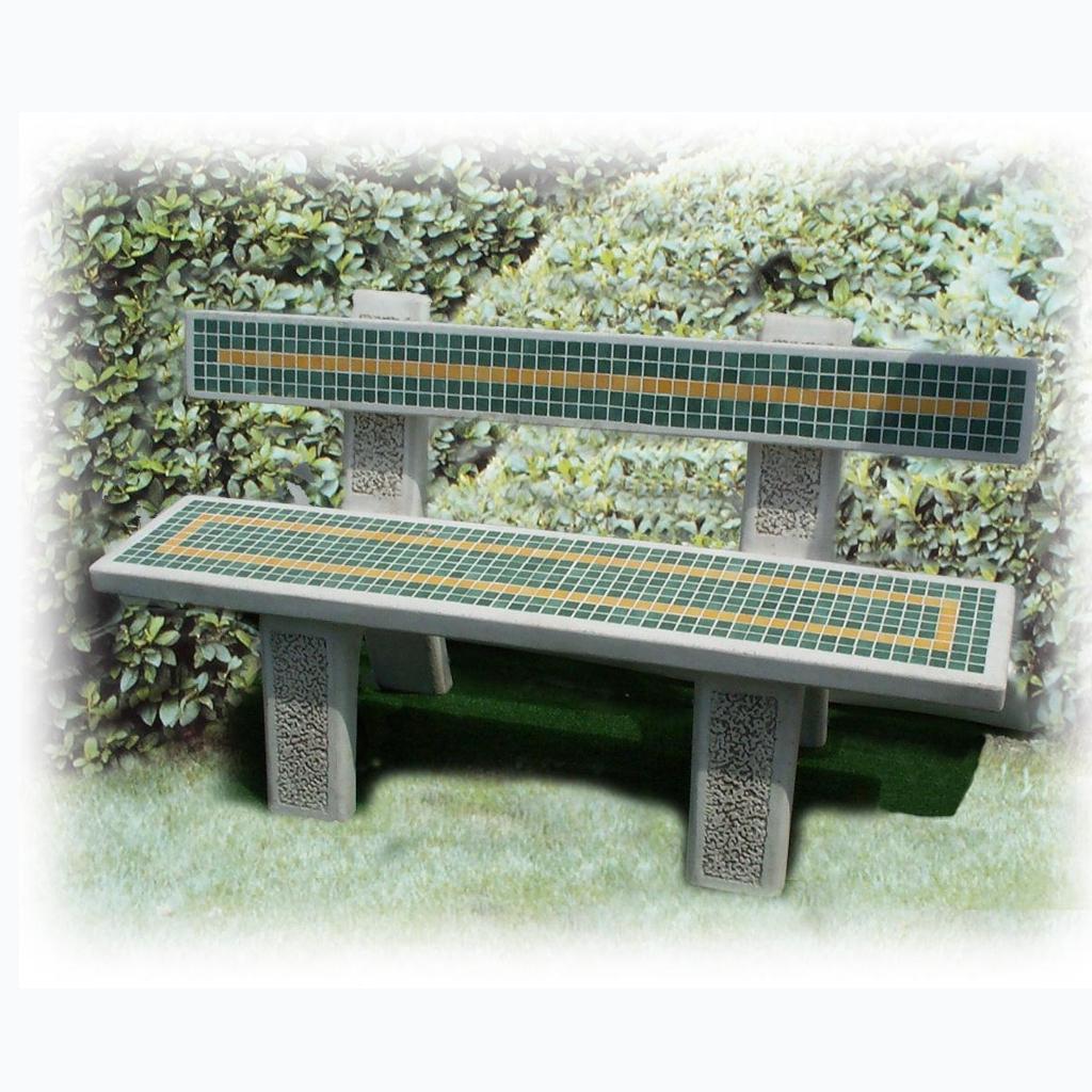 Panchina Vulcano Con Mosaico Micciche Architetture Da Giardino