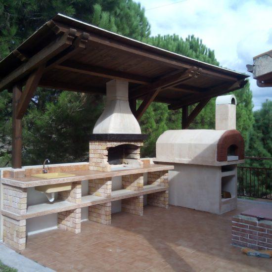 Cucina prefabbricata da esterno mod ouk20 miccich architetture da giardino - Cucina in muratura da esterno ...
