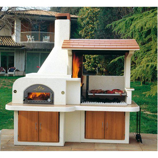 Forno barbecue antille miccich architetture da giardino for Offerte barbecue in muratura