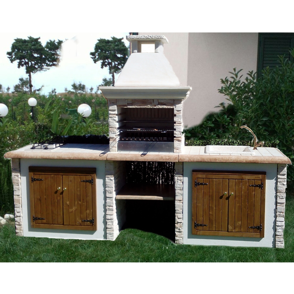 Barbecue favignana miccich architetture da giardino - Forno a legna cucina moderna ...