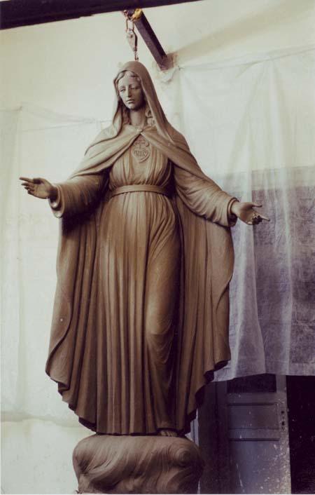modellatura in creta madonna della misericordia